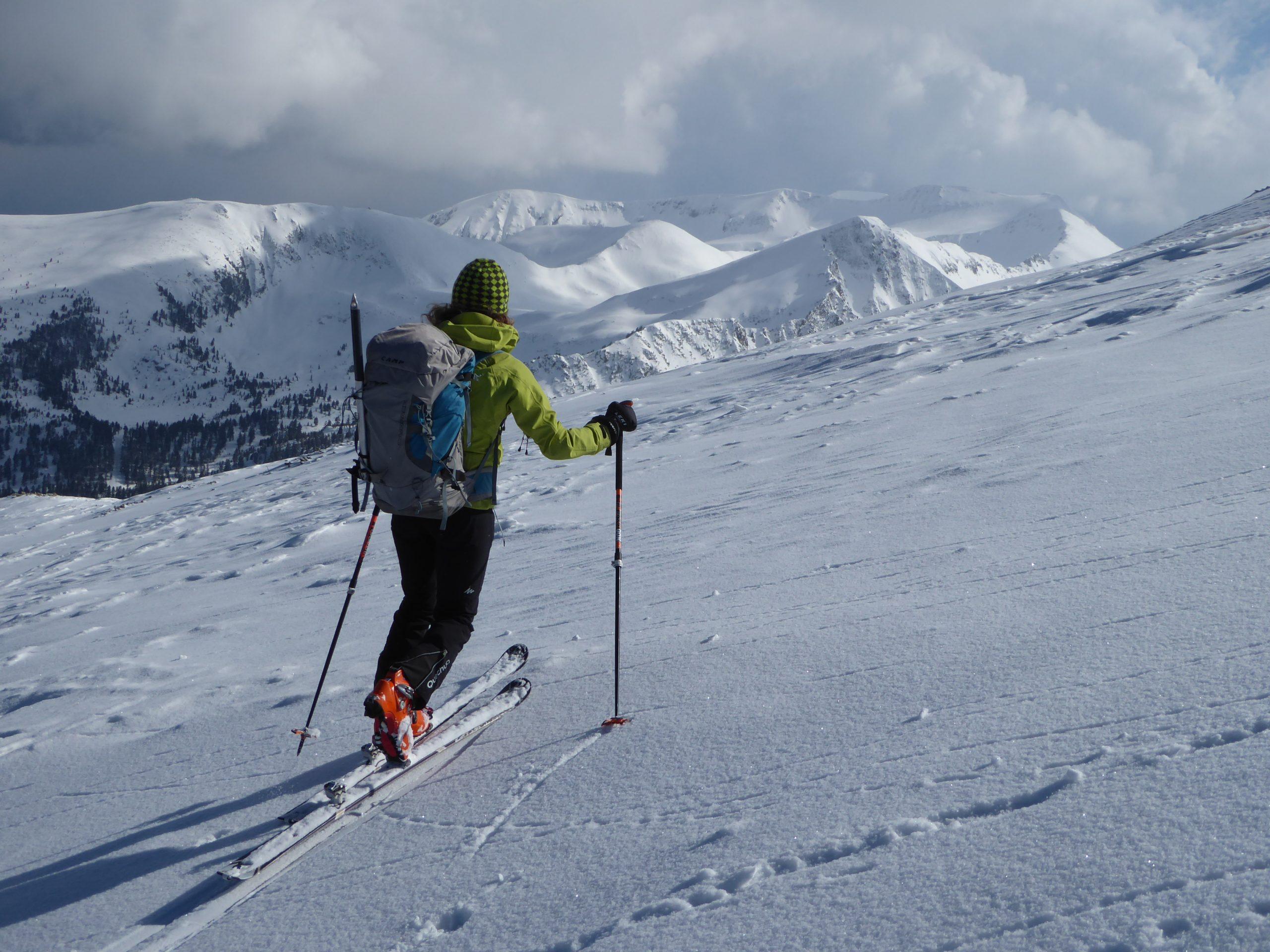Esquí de montaña en Bulgaria. Rila y Pirin, Balcanes