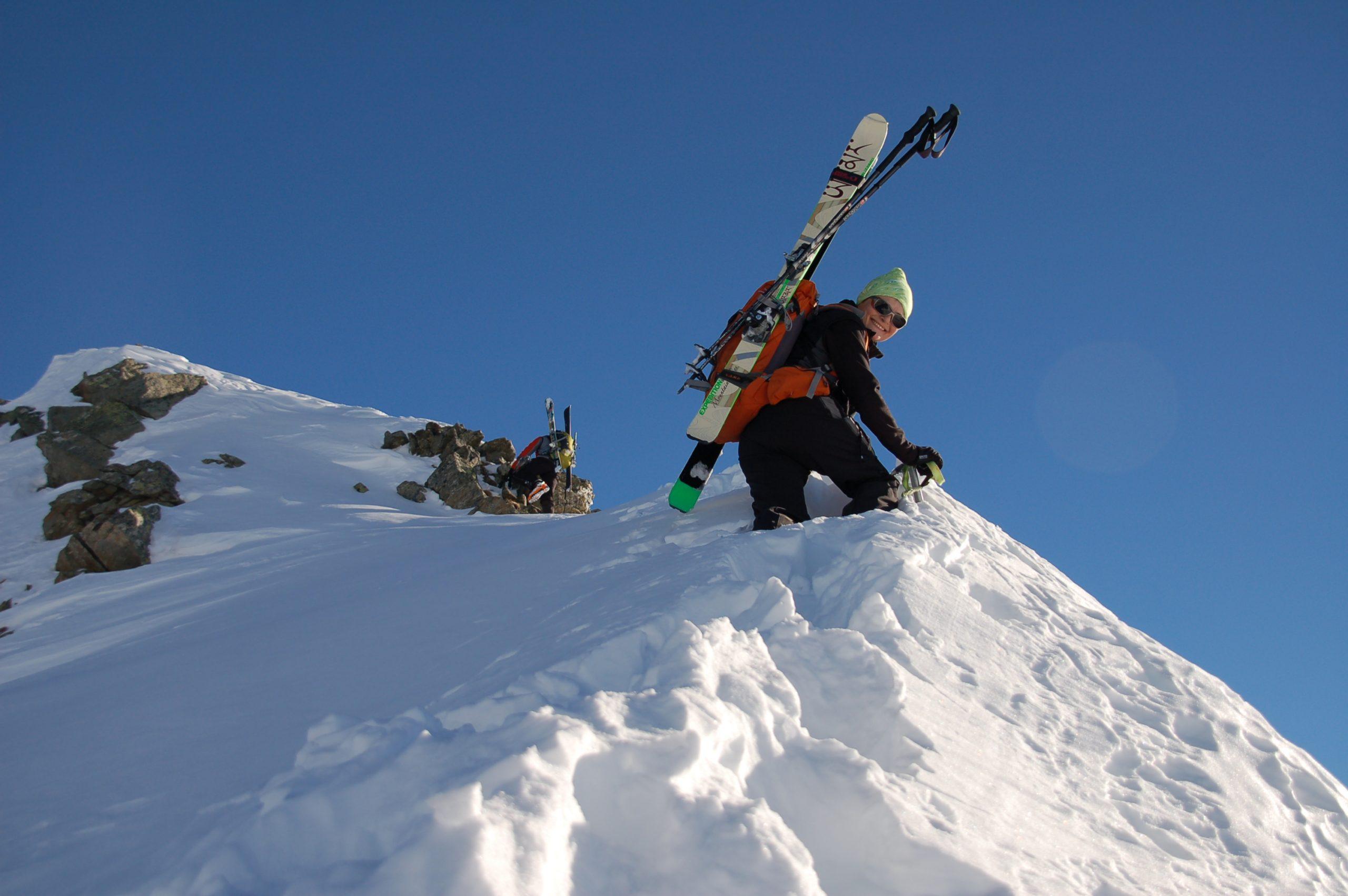 Esquí de montaña en el Valle de Aosta. Alpes Italianos