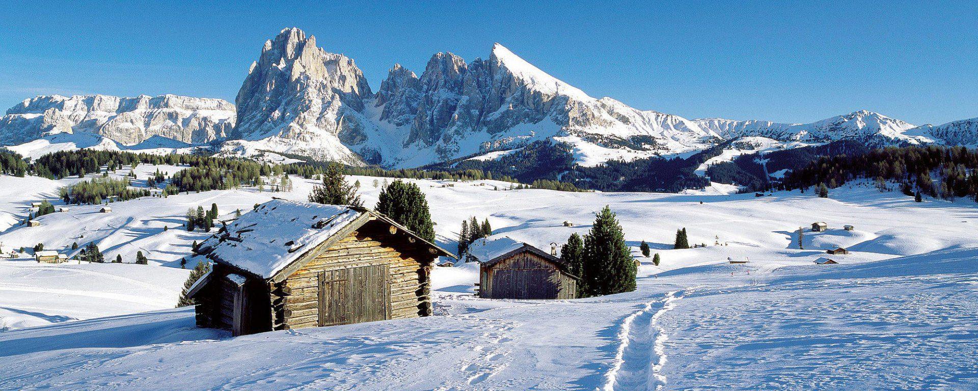 Raquetas de nieve en Dolomitas. Excursiones por las montañas más bellas del mundo.