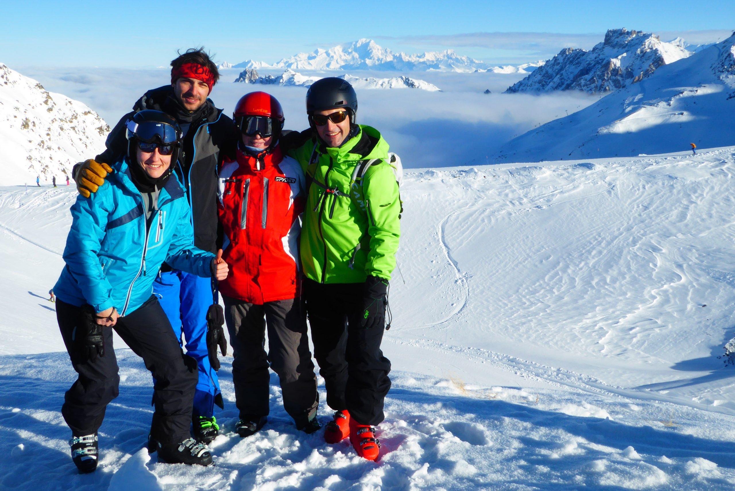 Esquí de pista y fuera pista en Tres Valles. Alpes franceses