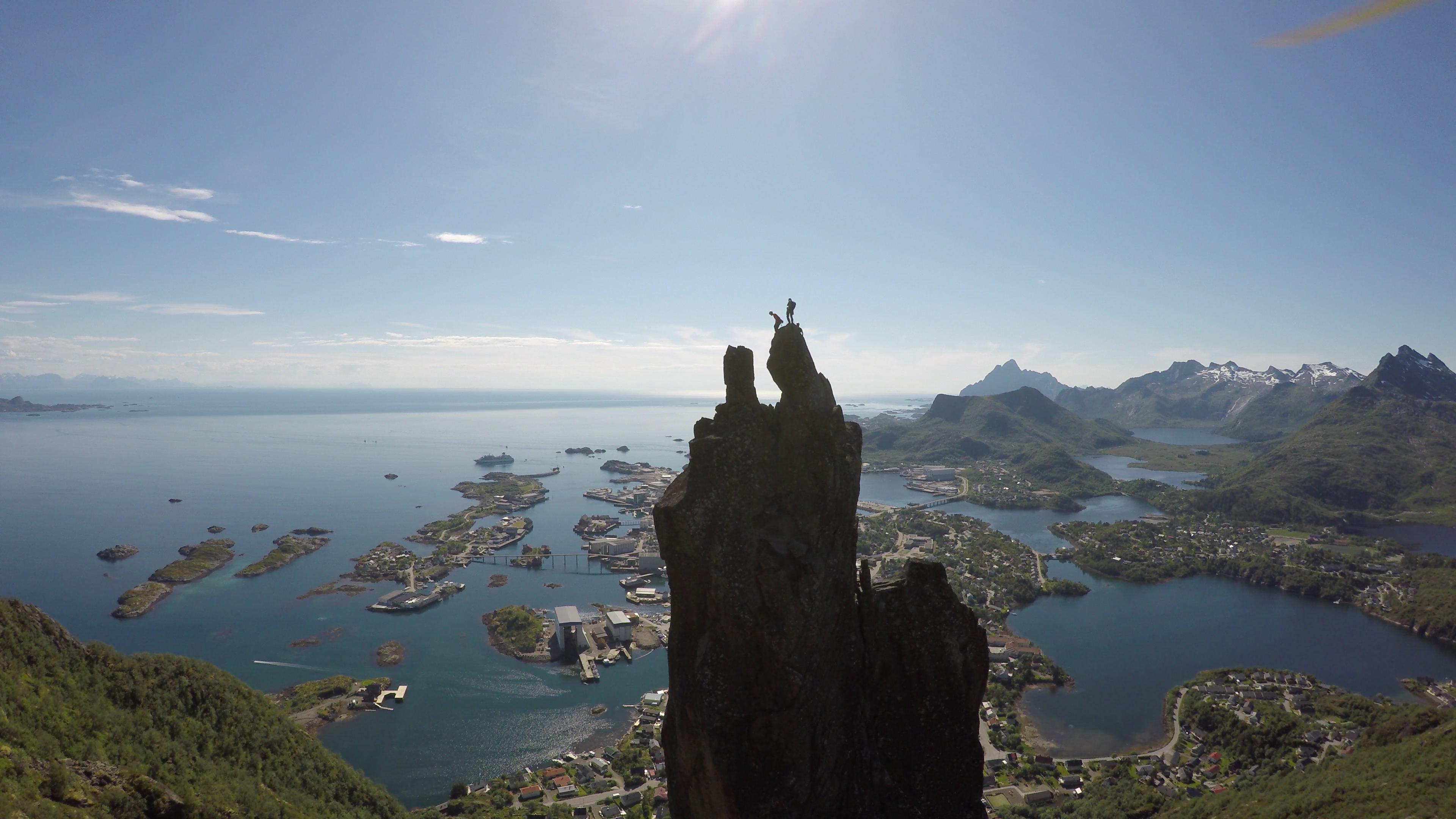 Escaladas en las Islas Lofoten, Noruega.