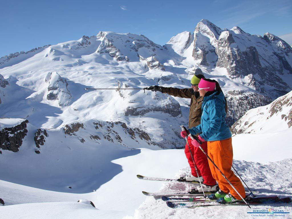 Dolomitas, esquí de pista y fuera de pista. Dolomitisuperski
