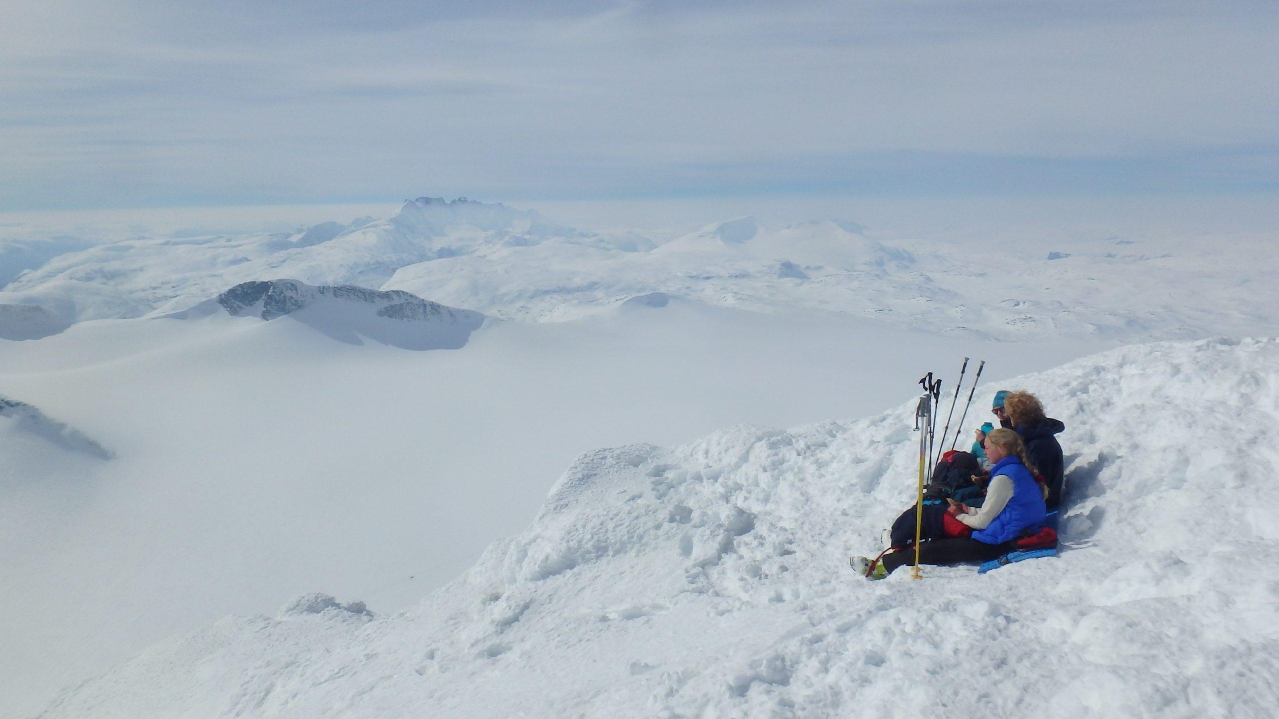 Jotunheimen, Noruega. Alta ruta de esquí de montaña