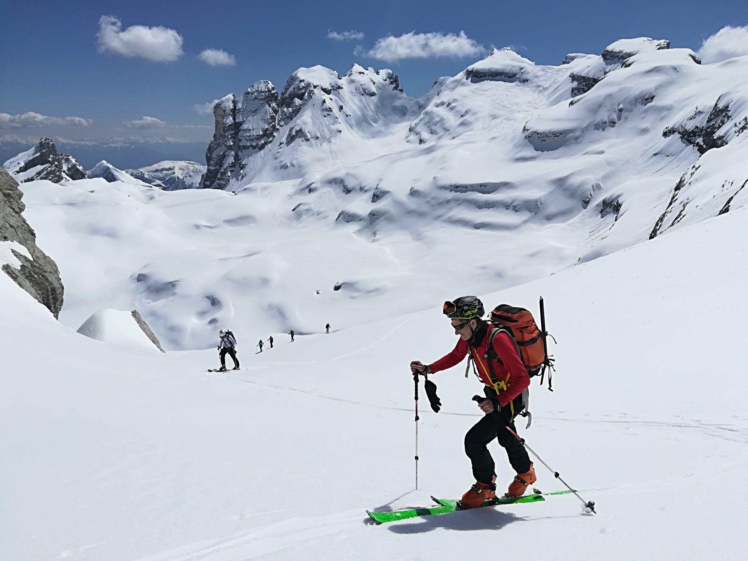 Dolomitas, esquí de montaña
