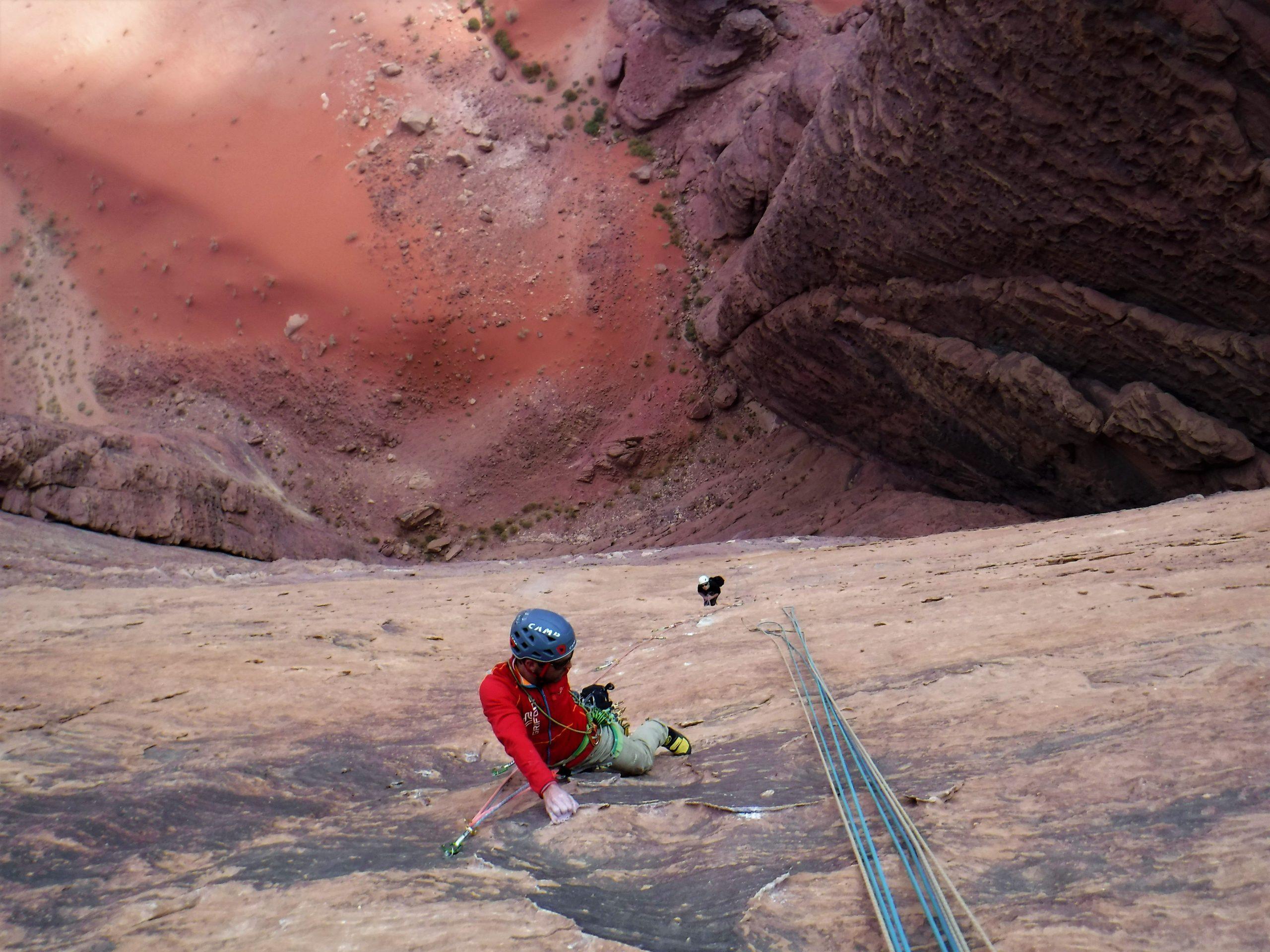 Escalada en Jordania. Desierto de Wadi Rum