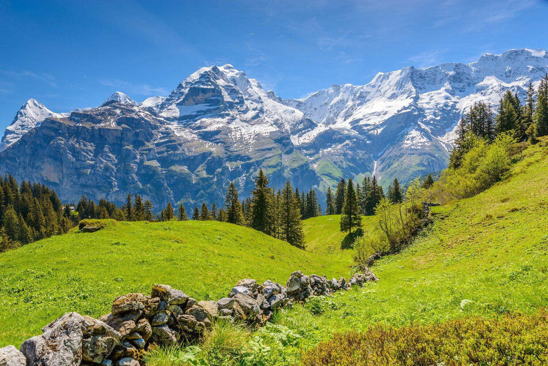 Senderismo en los Alpes suizos. Oberland Bernés